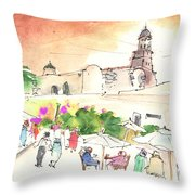 Market In Teguise In Lanzarote 02 Throw Pillow
