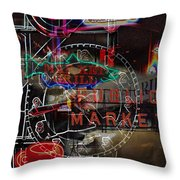 Market Medley Throw Pillow