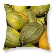 Market Melons Throw Pillow