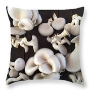 Market Mushrooms Throw Pillow