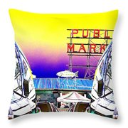 Market Reflect Throw Pillow