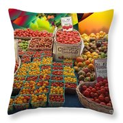 Market Still Life Throw Pillow