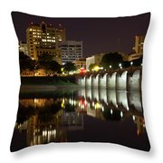 Market Street Bridge Reflections Throw Pillow by Shelley Neff