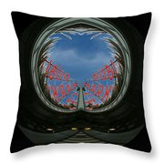 Market Through The Looking Glass Throw Pillow