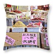 Market Way Throw Pillow
