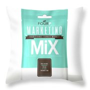 Marketing Mix 4 P's Throw Pillow