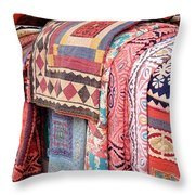 Marketplace Colors Throw Pillow