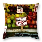 Marketplace Fruit Throw Pillow