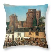 Marketplace In Vitre Throw Pillow