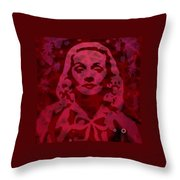 Marlene In Red  Throw Pillow