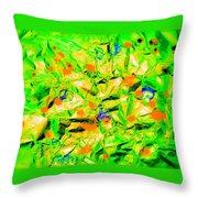 Orange Green Throw Pillow