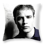 Marlon Brando Portrait #1 Throw Pillow
