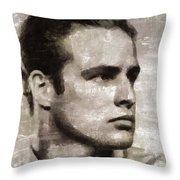 Marlon Brando, Vintage Actor Throw Pillow