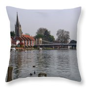 Marlow By The River Thames Throw Pillow