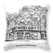 Marlows Market Throw Pillow