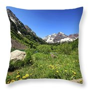 Maroon Bells In Summer 2 Throw Pillow