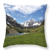 Maroon Bells Trail Panorama Throw Pillow
