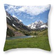 Maroon Bells Wilderness Panorama Throw Pillow