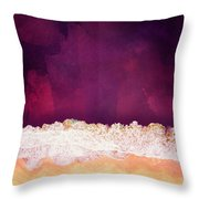 Maroon Ocean Throw Pillow