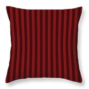 Maroon Red Striped Pattern Design Throw Pillow