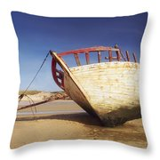 Marooned Boat Throw Pillow