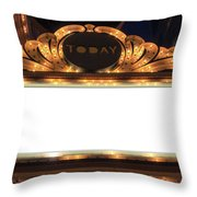 Marquee Lights Blank Sign Throw Pillow