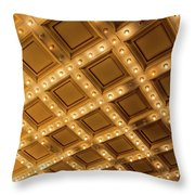Marquee Lights On Theater Ceiling Throw Pillow