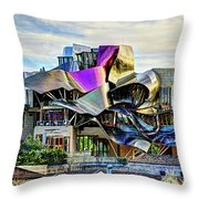 marques de riscal Hotel at sunset - frank gehry Throw Pillow