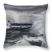 Marquette Channel Marker Throw Pillow