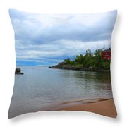 Marquette Harbor Lighthouse Throw Pillow
