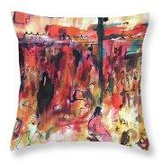 Marrakech Market Throw Pillow