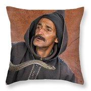 Marrakech Snake Charmer Throw Pillow