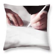 Marriage Certificate Throw Pillow