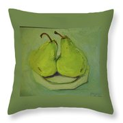 Marriage Of The Pears Throw Pillow