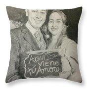 Marriage Portrait Throw Pillow