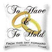 Marriage Vows Throw Pillow