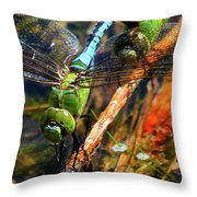Married With Children Dragonflies Mating Throw Pillow