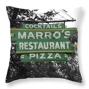 Marro's Restaurant Throw Pillow