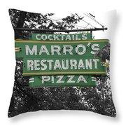 Marro's Restaurant Throw Pillow