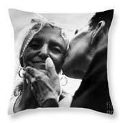 Marrying At 100 Throw Pillow