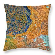 Mars Abstract Throw Pillow
