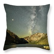 Mars And The Milky Way Throw Pillow