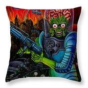 Mars Attacks 2 Throw Pillow