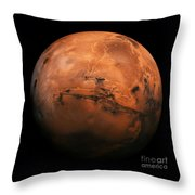 Mars The Red Planet Throw Pillow