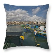 Marsaxlokk Throw Pillow