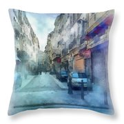 Marseille Back Street Throw Pillow