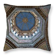 Marseille Cathedral St Mary Major Dome And Cupola Throw Pillow