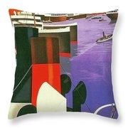 Marseille, City Harbor, France Throw Pillow