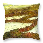 Marsh 9 Throw Pillow