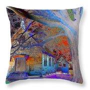 Marsh Berea Mb Church In Color Throw Pillow